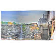 Grist Mill Southern View - Yates Millpond Poster
