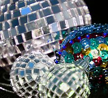 Blue Glitter Balls by Lynn Ede