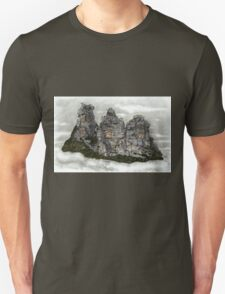 III Three Sisters Blue Mountains Colour Pencil Drawing Unisex T-Shirt