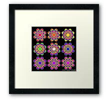 Rainbows Foot Flowers Framed Print