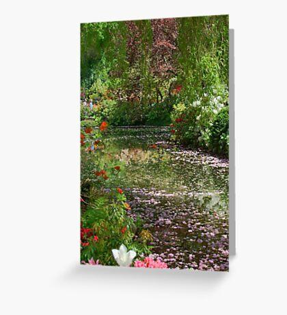 Lake in Butchart Gardens Greeting Card