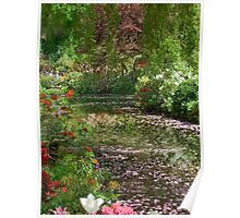 Lake in Butchart Gardens Poster
