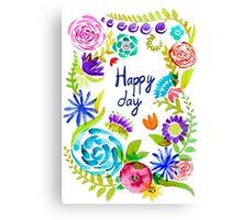 Watercolor floral01 Canvas Print