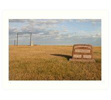 Tombstone from ground level Art Print