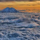 Sunset on Rainier  by cullodenmist
