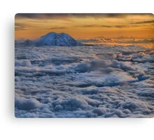 Sunset on Rainier  Canvas Print