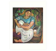 Pan y Vino/Bread and Wine Art Print