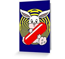 Follow the White Rabbit? Greeting Card