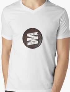 Treat Yo' Self Mens V-Neck T-Shirt