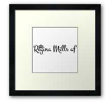 Regina Mills af (Black Text) Framed Print