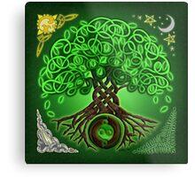 Circle Celtic Tree of Life Metal Print