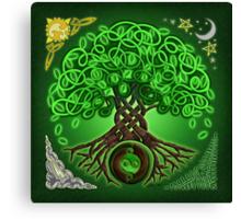 Circle Celtic Tree of Life Canvas Print