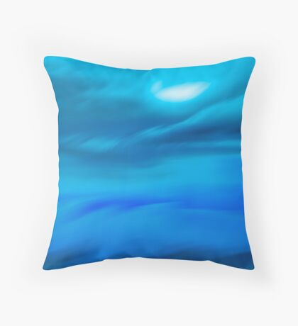 moon break through.....pending storm Throw Pillow
