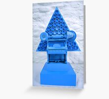Blue Shock Box of Infinate Desires.(Curser) Greeting Card