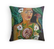 Mother and Child by Ruth Olivar Millan Throw Pillow