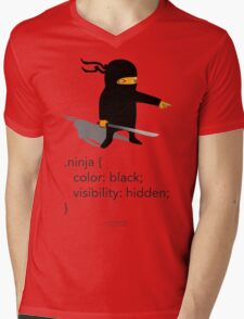 Geek Tee - CSS Jokes - Ninja Mens V-Neck T-Shirt