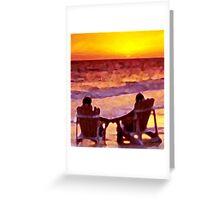 A Shared Sunset Greeting Card