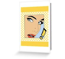 Pop Art Girl Greeting Card