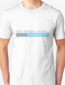 Beer goggles loading funny humor frat guy college drinking party t-shirt for guys T-Shirt