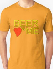 Beer loves me funny drinking college humor party keg t-shirt for guys and girls T-Shirt