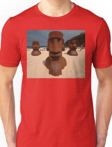 Easter Islander Sculptures @ Tamarama Beach 2011 Unisex T-Shirt