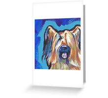 Briard Dog Bright colorful pop dog art Greeting Card