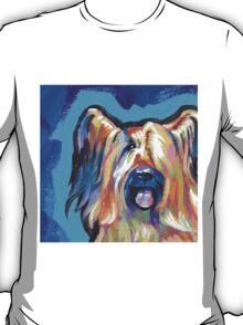 Briard Dog Bright colorful pop dog art T-Shirt