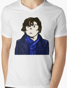 Sherlock Holmes In Action Mens V-Neck T-Shirt