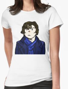 Sherlock Holmes In Action Womens Fitted T-Shirt