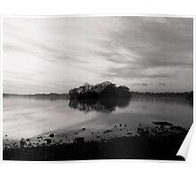 Sunset over Hornsea Mere - 2 Poster