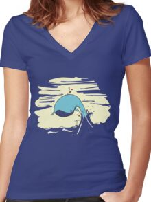 Whale Rider3 Women's Fitted V-Neck T-Shirt