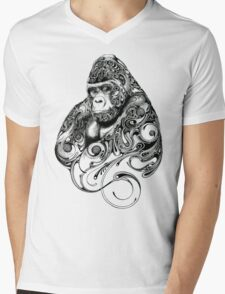 Gorilla Mens V-Neck T-Shirt