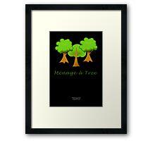Ménage à Tree Framed Print