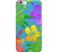 Bright watercolor tropical flowers iPhone Case/Skin