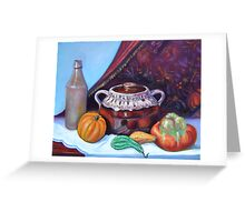 Bean pot, squash and bottle Greeting Card