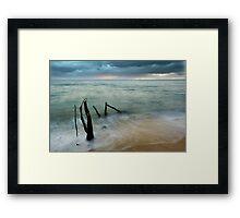 Washed Up - beach log at Ella Bay Framed Print
