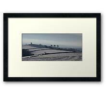 Snowy scene  on Hills Near Bradninch Framed Print