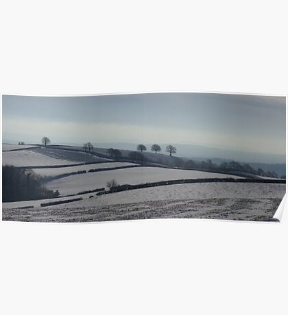 Snowy scene  on Hills Near Bradninch Poster