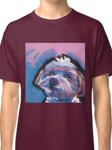 Morkie Maltese yorkie Dog Bright colorful pop dog art Classic T-Shirt