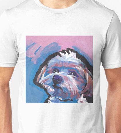 Morkie Maltese yorkie Dog Bright colorful pop dog art Unisex T-Shirt
