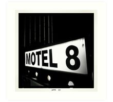 Motel 8 Art Print