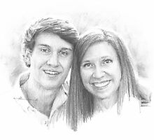 young couple sunshine drawing by Mike Theuer