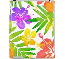 Bright tropical flowers vector summer bouquet iPad Case/Skin