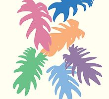 Colourful Matisse Leaves by Isabella Brown
