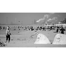 Playing on the beach of Zandvoort Photographic Print