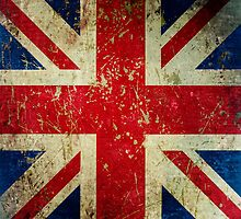 Grunge Union Jack - Scratched Metal Effect by itsjensworld
