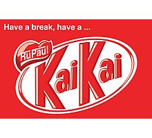 KaiKai (with slogan) Photographic Print