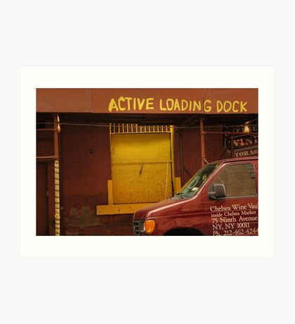 Active loading dock Art Print