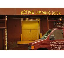 Active loading dock Photographic Print
