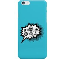 COMIC Curses, Skull, Speech Bubble, Comic Book Explosion, Cartoon iPhone Case/Skin